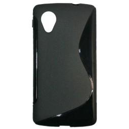 LG Nexus 5 - Gumiran ovitek (TPU) - črn SLine