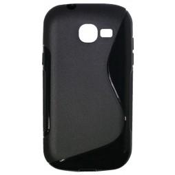 Samsung Galaxy Trend Lite - Gumiran ovitek (TPU) - črn SLine