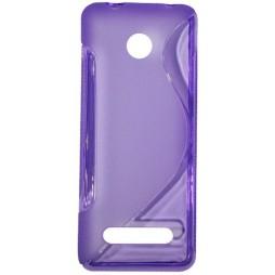 Nokia 206 - Gumiran ovitek (TPU) - vijolično-prosojen SLine