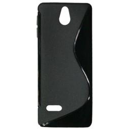 Nokia 515 - Gumiran ovitek (TPU) - črn SLine
