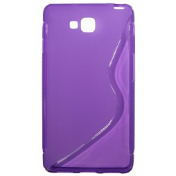 LG Optimus L9 II - Gumiran ovitek (TPU) - vijolično-prosojen SLine