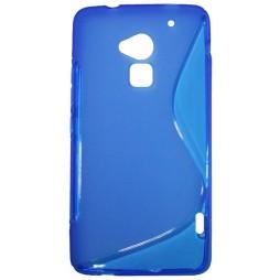 HTC One Max - Gumiran ovitek (TPU) - modro-prosojen SLine