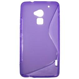 HTC One Max - Gumiran ovitek (TPU) - vijolično-prosojen SLine
