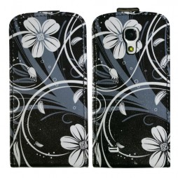 Samsung Galaxy S4 Mini - Preklopna torbica (40) - White flowers