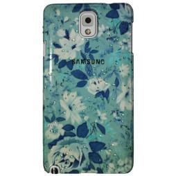 Samsung Galaxy Note 3 - Okrasni pokrovček (32) - A4 modro-zelene rože