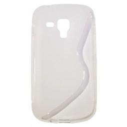 Samsung Galaxy Trend Pro/Plus/S Duos 2 - Gumiran ovitek (TPU) - belo-prosojen SLine