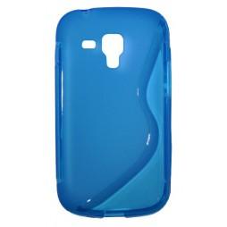 Samsung Galaxy Trend Pro/Plus/S Duos 2 - Gumiran ovitek (TPU) - modro-prosojen SLine