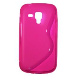 Samsung Galaxy Trend Pro/Plus/S Duos 2 - Gumiran ovitek (TPU) - roza-prosojen SLine