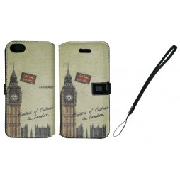 Apple iPhone 5/5S/SE - Preklopna torbica (42) - London