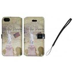 Apple iPhone 5/5S/SE - Preklopna torbica (42) - New York