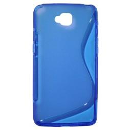 LG G Pro Lite - Gumiran ovitek (TPU) - modro-prosojen SLine