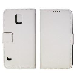 Samsung Galaxy S5/S5 Neo - Preklopna torbica (WL) - bela