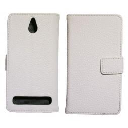Sony Xperia E1 - Preklopna torbica (WL) - bela