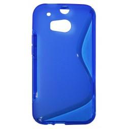 HTC One M8 - Gumiran ovitek (TPU) - modro-prosojen SLine