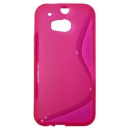 HTC One M8 - Gumiran ovitek (TPU) - roza-prosojen SLine