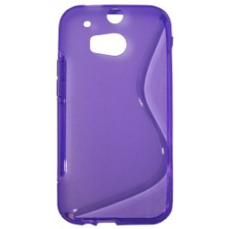 HTC One M8 - Gumiran ovitek (TPU) - vijolično-prosojen SLine