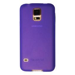 Samsung Galaxy S5/S5 Neo - Gumiran ovitek (TPU) - vijolično-prosojen mat