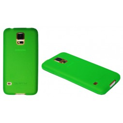 Samsung Galaxy S5/S5 Neo - Gumiran ovitek (TPU) - zeleno-prosojen mat