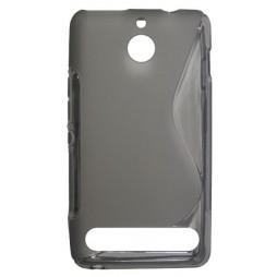 Sony Xperia E1 - Gumiran ovitek (TPU) - sivo-prosojen SLine