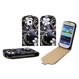Samsung Galaxy S3 Mini - Preklopna torbica (40) - White flowers