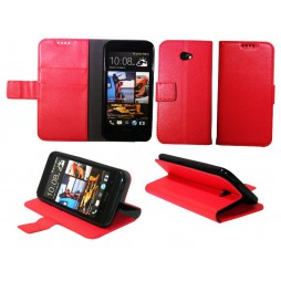 HTC Desire 601 Zara - Preklopna torbica (WLG) - rdeča