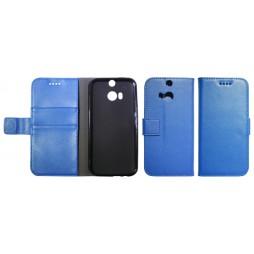 HTC One M8 - Preklopna torbica (WLG) - modra