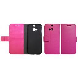 HTC One M8 - Preklopna torbica (WLG) - roza
