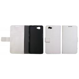 Sony Xperia Z1 Compact - Preklopna torbica (WLG) - bela