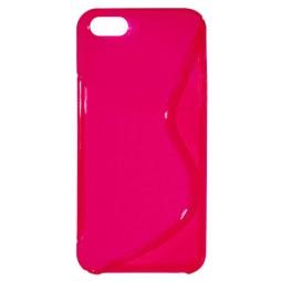 Apple iPhone 5/5S/SE - Gumiran ovitek (TPU) - roza-prosojen SLine