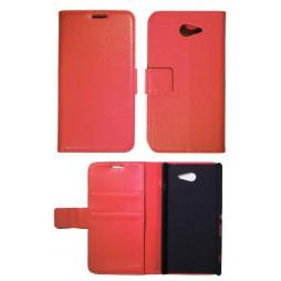 Sony Xperia M2 - Preklopna torbica (WL) - rdeča