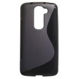 LG G2 mini - Gumiran ovitek (TPU) - črn SLine