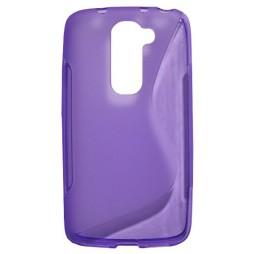 LG G2 mini - Gumiran ovitek (TPU) - vijolično-prosojen SLine