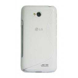 LG L70 - Gumiran ovitek (TPU) - belo-prosojen SLine
