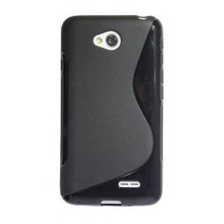 LG L70 - Gumiran ovitek (TPU) - črn SLine