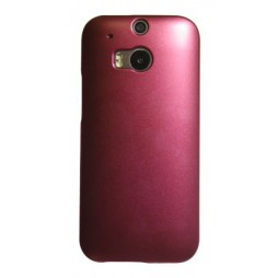 HTC One M8 - Okrasni pokrovček (50) - rdeč