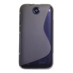 HTC Desire 310 - Gumiran ovitek (TPU) - sivo-prosojen SLine