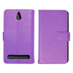 Sony Xperia E1 - Preklopna torbica (WL) - vijolična