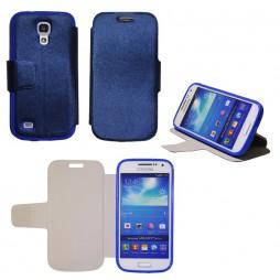 Samsung Galaxy S4 Mini - Preklopna torbica (28G) - modra