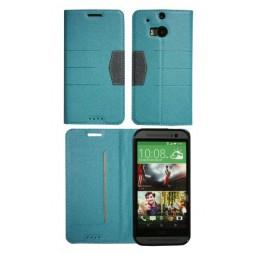 HTC One M8 - Preklopna torbica (47G) - turkizna