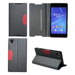 Sony Xperia Z2 - Preklopna torbica (47G) - črna