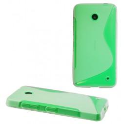 Nokia Lumia 630/635 - Gumiran ovitek (TPU) - belo-prosojen SLine