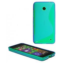 Nokia Lumia 630/635 - Gumiran ovitek (TPU) - modro-prosojen SLine