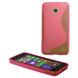 Nokia Lumia 630/635 - Gumiran ovitek (TPU) - roza-prosojen SLine