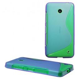 Nokia Lumia 630/635 - Gumiran ovitek (TPU) - vijolično-prosojen SLine