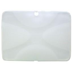 Samsung Galaxy Tab 4 10.1 (T530) - Gumiran ovitek (TPU) - belo-prosojen XLine