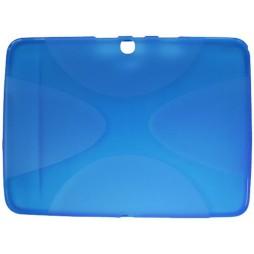 Samsung Galaxy Tab 4 10.1 (T530) - Gumiran ovitek (TPU) - modro-prosojen XLine