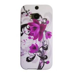 HTC One M8 - Gumiran ovitek (TPUP) - Water lily