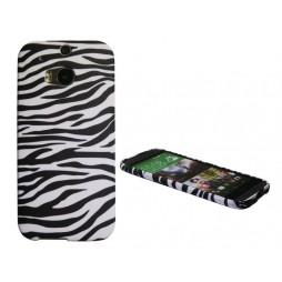 HTC One M8 - Gumiran ovitek (TPUP) - Zebra