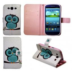 Samsung Galaxy S3 - Preklopna torbica (WLGP) - Blue owl