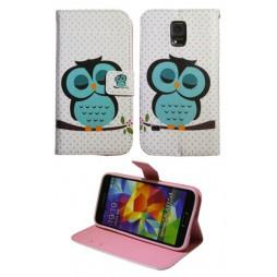 Samsung Galaxy S5/S5 Neo - Preklopna torbica (WLGP) - Blue owl